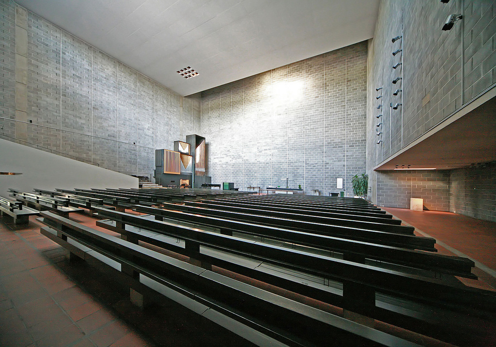 Tapiola Church designed by Aarno Ruusuvuori
